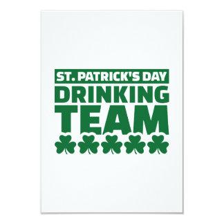 St. Patrick's day drinking team 9 Cm X 13 Cm Invitation Card