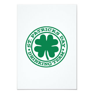 St. Patrick's day drinking team Personalized Invites