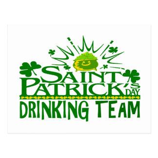 St Patricks Day Drinking Team. Irish Celebrations. Postcard
