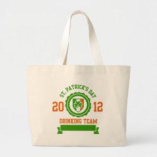 St. Patrick's Day Drinking Team Jumbo Tote Bag