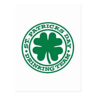 St. Patrick's day drinking team Postcards