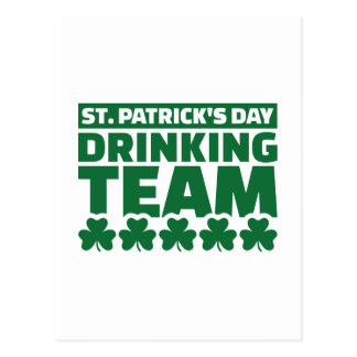 St. Patrick's day drinking team Post Card