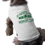St. Patrick's Day Drinking Team Sleeveless Dog Shirt