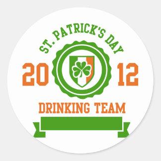 St. Patrick's Day Drinking Team Classic Round Sticker