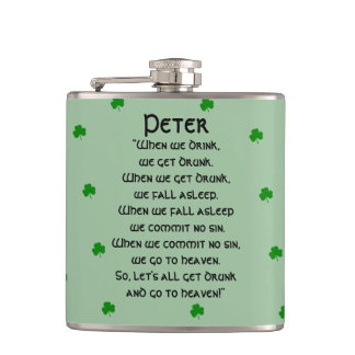 St.Patrick's Day Drinking Toast Hip Flask