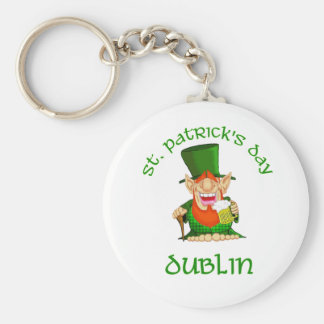 St Patrick's Day ~ Dublin Basic Round Button Key Ring
