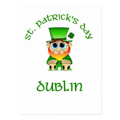 St Patricks Day ~ Dublin Postcard
