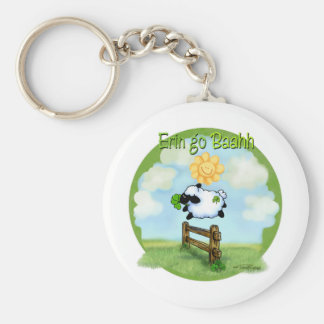 St Patrick's day - Erin go bahh Basic Round Button Key Ring