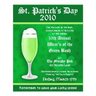 St. Patrick's Day Event Invitation Flyer