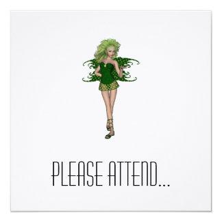 St. Patrick's Day Fairy 5 13 Cm X 13 Cm Square Invitation Card