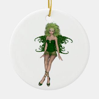 St. Patrick's Day Fairy 6 Christmas Tree Ornaments