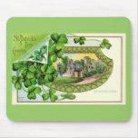 St. Patrick's Day Fine Vintage Ireland Castle Mouse Pad