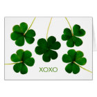 St. Patrick's Day for Sweetheart, XOXO Shamrocks Card