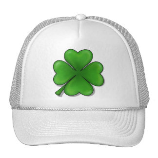 St. Patrick's Day, Four Leaf Clover Mesh Hats
