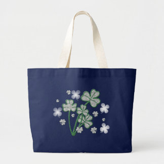 St. Patricks Day four leaf clover tote bags