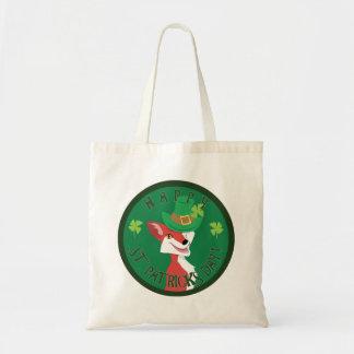 St. Patrick's Day Fox Budget Tote Bag
