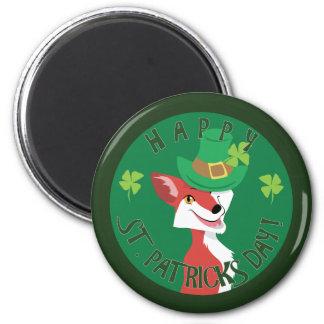 St. Patrick's Day Fox Magnet