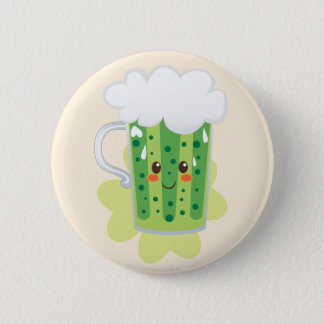 St. Patrick's Day Fresh Beer 6 Cm Round Badge