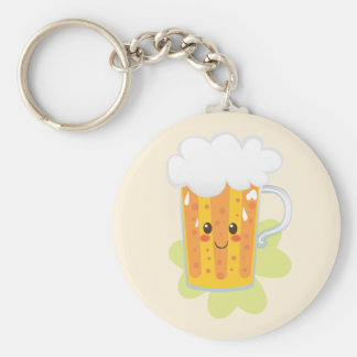 St. Patrick's Day Fresh Beer Basic Round Button Key Ring