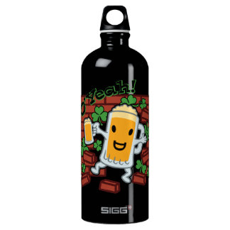 St Patrick's Day Funny Beer Man Water Bottle
