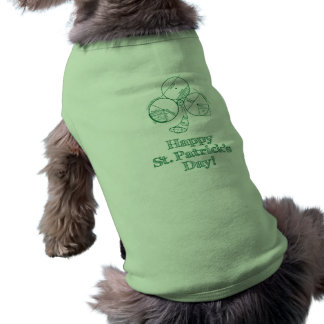 St. Patrick's Day Geometry Sleeveless Dog Shirt