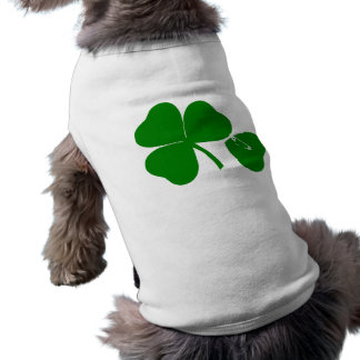 St Patrick's Day - Get Lucky 3 + 1 leaves = 4 Sleeveless Dog Shirt
