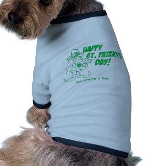 St. Patricks Day Get Me A Beer U.S. Custom Ink Doggie Tee