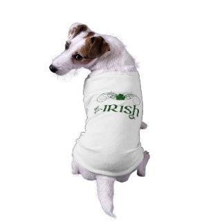"St. Patrick's Day ""Get Your Irish On""-Dog Sweater Sleeveless Dog Shirt"