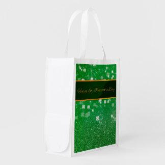 St. Patrick's Day Glitter Clover - Reusable Bag
