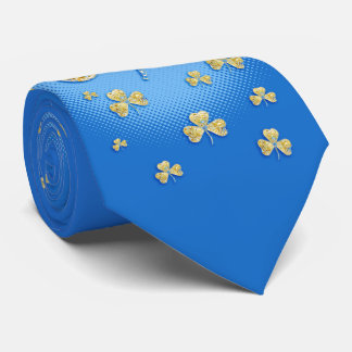 St. Patrick's Day   Golden Shamrocks Tie
