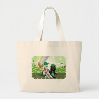 St Patricks Day - GoldenDoodles - Sadie and Izzie Tote Bags