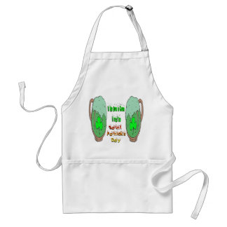 St Patrick's Day Green Beer Adult Apron