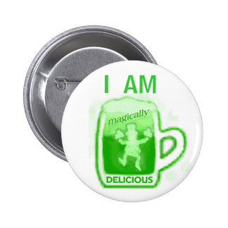 St. Patrick's Day Green Beer Button