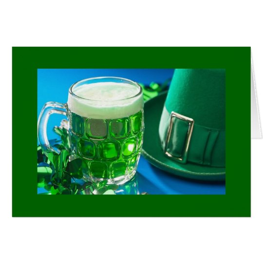 St. Patrick's Day Green Beer Card