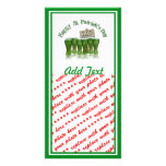 St Patrick's Day Green Beer for a Buck! Personalised Photo Card