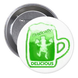St. Patrick's Day Green Beer Mug Button