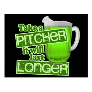 St. Patrick's Day Green Beer Postcard