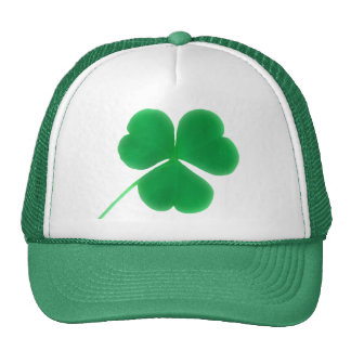 St. Patrick's Day Green Clover Trucker Hats