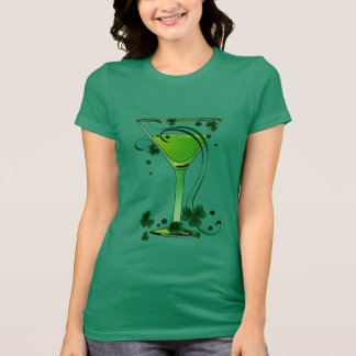 St Patricks Day Green Cocktail Ladies Jersey T-Shirt