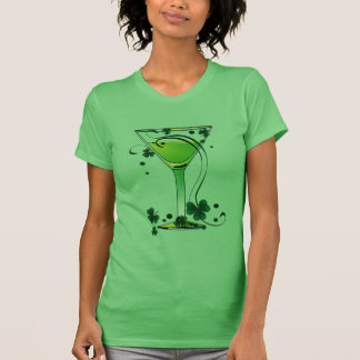 St Patricks Day Green Cocktail Ladies Spaghetti T-Shirt