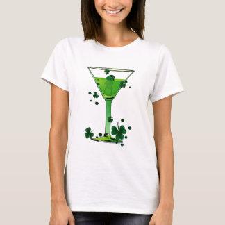 St Patricks Day Green Cocktail & Leprechaun White T-Shirt