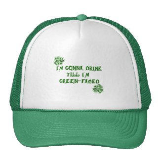 St. Patrick's Day Green Faced Products Trucker Hats
