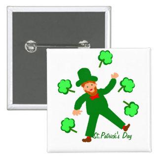 St.Patrick's Day, Green Leprechaun pin or badge