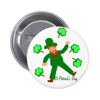 St.Patrick's Day, Green Leprechaun Pins or Badges