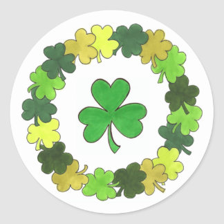 St. Patrick's Day Green Shamrock Clover Stickers