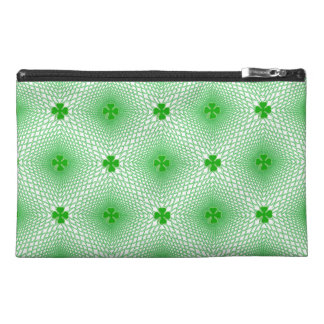 St Patrick's Day Green Shamrock on Mesh Background Travel Accessories Bags