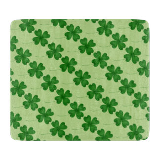 St Patricks Day green shamrocks Cutting Board