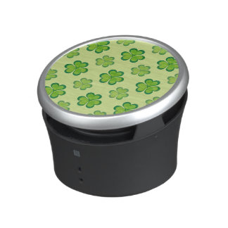 St. Patrick's Day Green Shamrocks Lucky Clovers Bluetooth Speaker