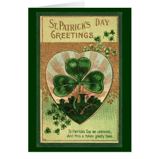 St Patrick's Day Greeting - Card