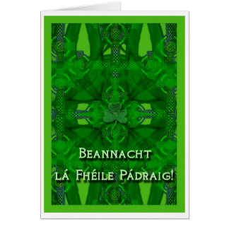 St. Patrick's Day Greeting Card In Irish